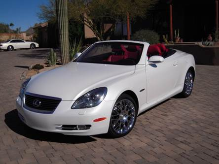 sold 2007 sc430 pebble beach white and red 53k miles. Black Bedroom Furniture Sets. Home Design Ideas