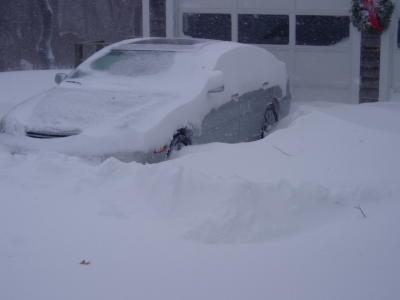 ES burried in snow