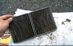 Dirty A/C filter