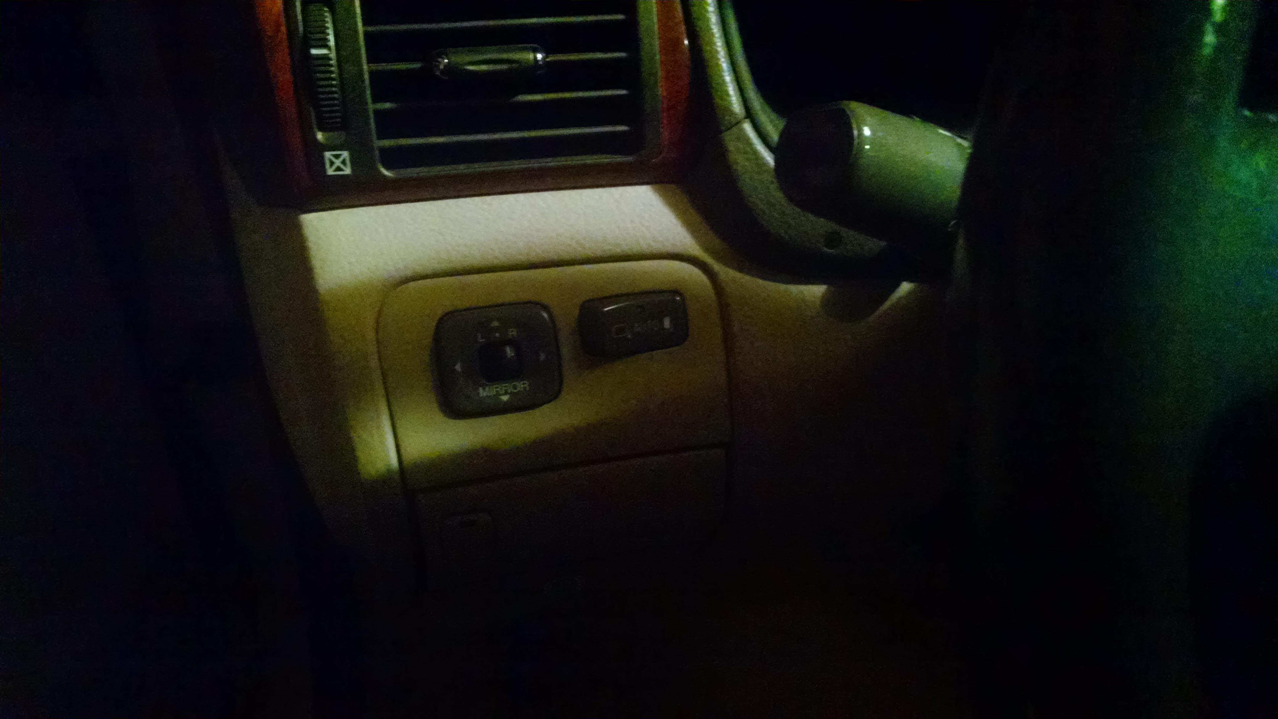 How to replace dashboard mirror switch - 01 - 06 Lexus LS430 - Lexus